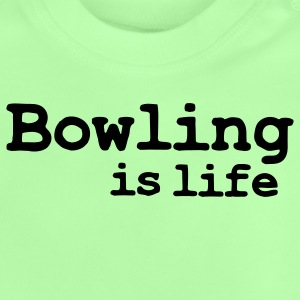 bowling is life Barnegensere - Baby-T-skjorte