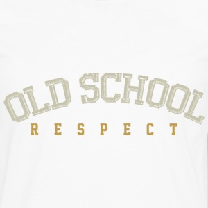Old School Respect 01 Sweaters - Mannen Premium shirt met lange mouwen