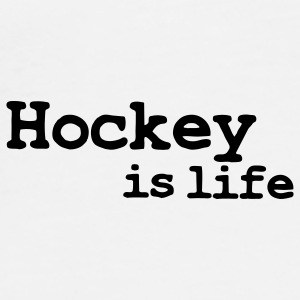hockey is life Buttons - Men's Premium T-Shirt