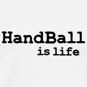 handball is life Tröjor - Premium-T-shirt herr
