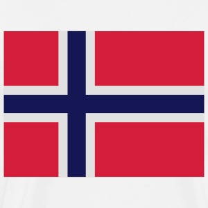 Flag Norway 2 (3c) Forklær - Premium T-skjorte for menn