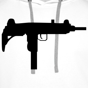 gun rifle weapon military m16 T-shirt - Felpa con cappuccio premium da uomo