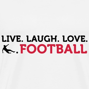 Live Laugh Love Football (2c) Bags  - Men's Premium T-Shirt