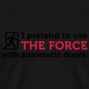 Open Automatic Doors with the Force (2c)  Aprons - Men's Premium T-Shirt