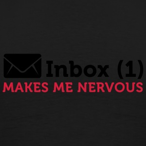Inbox (1) Makes Me Nervous (2c) Hoodies & Sweatshirts - Men's Premium T-Shirt