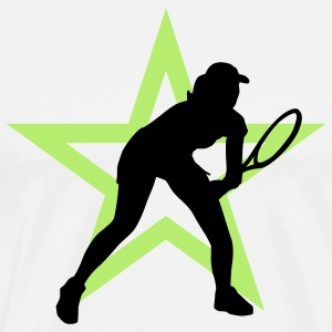 tennis_female_i_2c_star  Aprons - Men's Premium T-Shirt