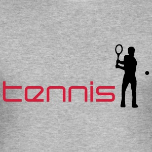tennis_i_2c Sweatshirts - Herre Slim Fit T-Shirt