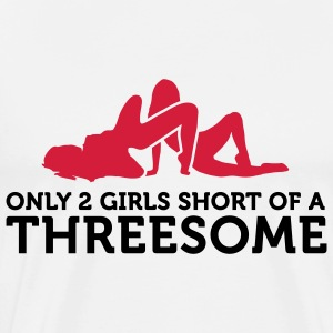 Two Girls short of a Threesome (2c) Tabliers - T-shirt Premium Homme