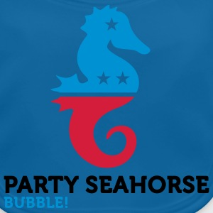 Party Seahorse (3c) Kinder T-Shirts - Baby Bio-Lätzchen