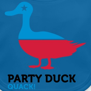Party Duck (3c) Kids' Shirts - Baby Organic Bib
