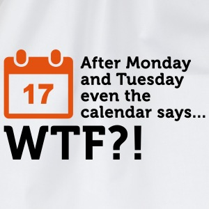 Calendar says WTF? (2c) Polo Shirts - Drawstring Bag