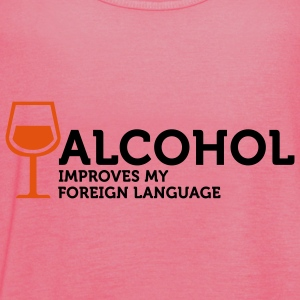 Alcohol improves my Foreign Language 3 (2c) Laukut - Naisten tankkitoppi Bellalta