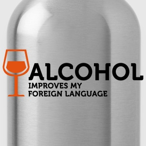 Alcohol improves my Foreign Language 3 (2c) Bags  - Water Bottle