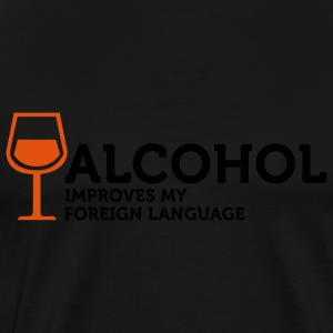 Alcohol improves my Foreign Language 3 (2c) Kookschorten - Mannen Premium T-shirt