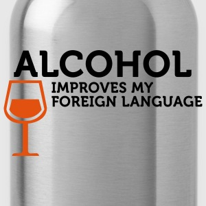 Alcohol improves my Foreign Language (2c) Bags  - Water Bottle