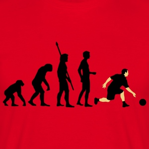 evolution_bowling_player_2c Hoodies & Sweatshirts - Men's T-Shirt