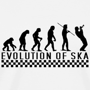 Evolution of Ska Kapuzenpullover - Männer Premium T-Shirt