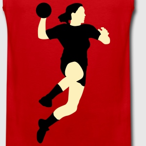 handball_spielerin_2c  Aprons - Men's Premium Tank Top