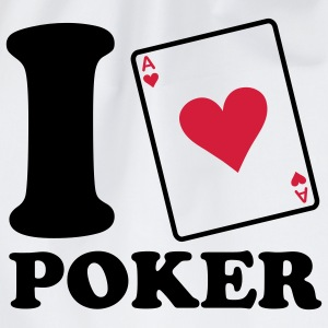I love Poker T-shirts - Gymnastikpåse