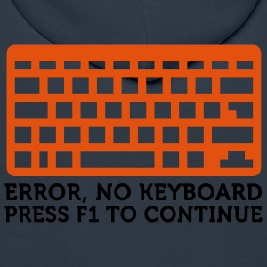 Error No Keyboard (2c) T-skjorter - Premium hettegenser for menn