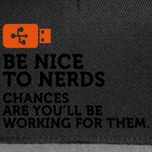 Be nice to Nerds 2 (2c) Gensere - Snapback-caps