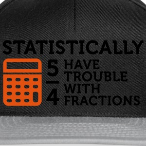 Trouble with Fractions 2 (2c) Sweatshirts - Snapback Cap
