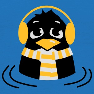 The penguin is sitting in water and freeze Bags  - Men's T-Shirt