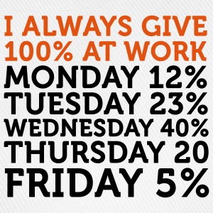 I give 100% at Work (2c) T-shirts - Basebollkeps