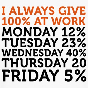 I give 100% at Work (2c) T-shirts - Långärmad premium-T-shirt herr