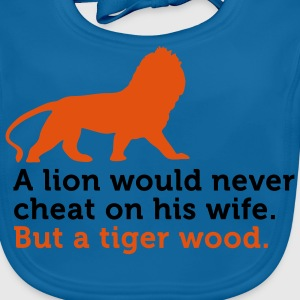Lion Cheat Wife (2c) Kids' Shirts - Baby Organic Bib