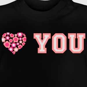 love_blumenherz_you_3c_b Shirts - Baby T-Shirt