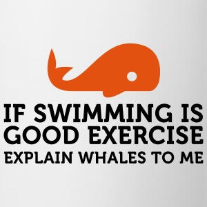 If swimming is great exercise, explain Whales (2c) T-shirt - Tazza