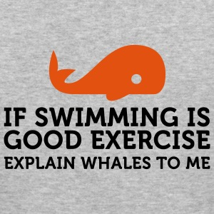 If swimming is great exercise, explain Whales (2c) Sweaters - slim fit T-shirt