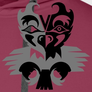 Indian eagle symbol Polo Shirts - Men's Premium Hoodie