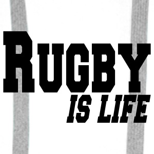 rugby is life Buttons/Badges - Herre Premium hættetrøje