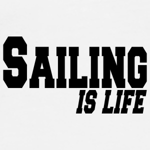 sailing is life Buttons - Men's Premium T-Shirt