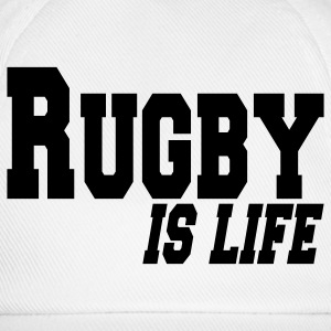 rugby is life Accessoires - Baseballkappe