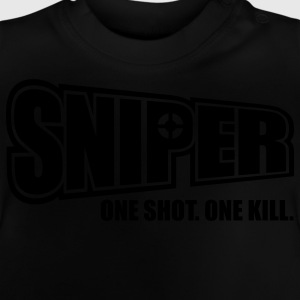 Sniper One Shot One Kill Kinder Pullover - Baby T-Shirt