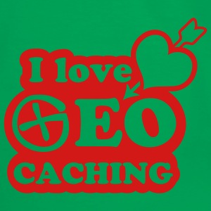 i love geocaching - 1color - Mannen contrastshirt