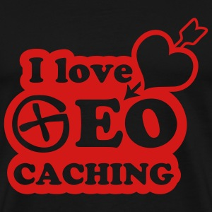 i love geocaching - 1color - Men's Premium T-Shirt