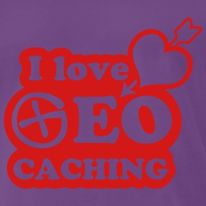 I love geocaching - 1color - 2011 Tröjor - Premium-T-shirt herr