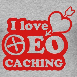 I love geocaching - 1color - 2011 Tröjor - Slim Fit T-shirt herr