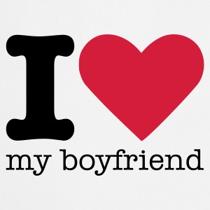 I Love My Boyfriend T-shirts - Forklæde