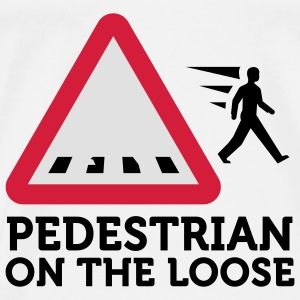 Pedestrians on the Loose (3c) Mochilas - Camiseta premium hombre
