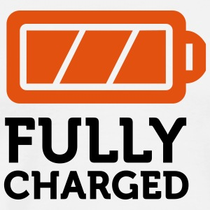 Fully Charged (2c)  Aprons - Men's Premium T-Shirt