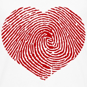 Finger Heart Red Kinder shirts - Mannen Premium shirt met lange mouwen