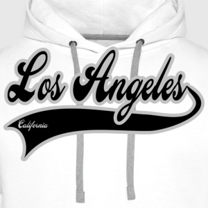 los angeles california T-skjorter - Premium hettegenser for menn