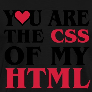 I love CSS / YOU ARE THE CSS OF MY HTML / HEART HEART Hoodies & Sweatshirts - Men's Premium T-Shirt
