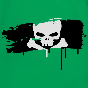 pirate flag painted with a brush stroke Bags  - Men's Ringer Shirt