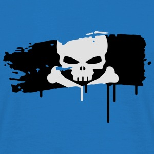 pirate flag painted with a brush stroke Umbrellas - Men's T-Shirt